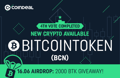 BitcoinToken available on CoinDeal!