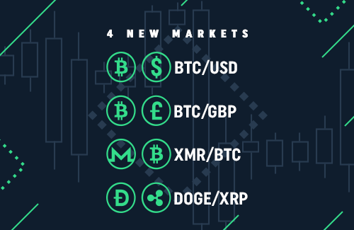 4 new markets on CoinDeal!
