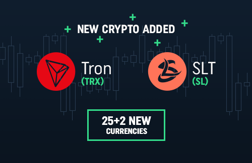 TRON and SLT available on CoinDeal!