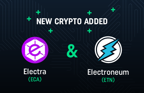 ECA and ETN available on CoinDeal