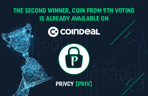 PRiVCY now available on CoinDeal