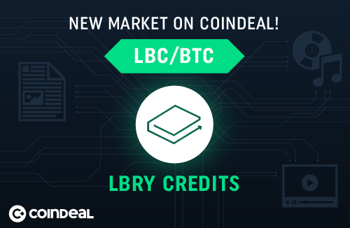 New market: LBC/BTC on CoinDeal!