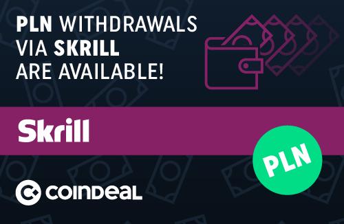PLN withdrawals available via Skrill