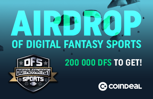 AIRDROP - całkowita pula zrzutu to 200 000 DFS!