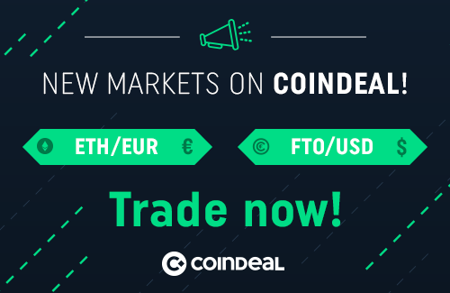 ETH/EUR and FTO/USD markets are finally available!