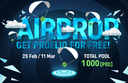 AIRDROP: the total pool is 1000 PEO