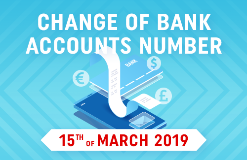 IMPORTANT: New bank accounts numbers