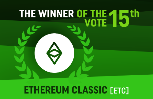 Ethereum Classic won our 15th vote