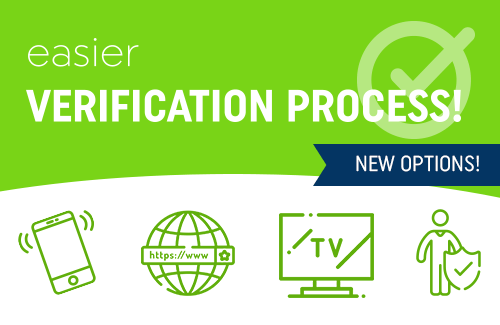 Verification process - important notice!