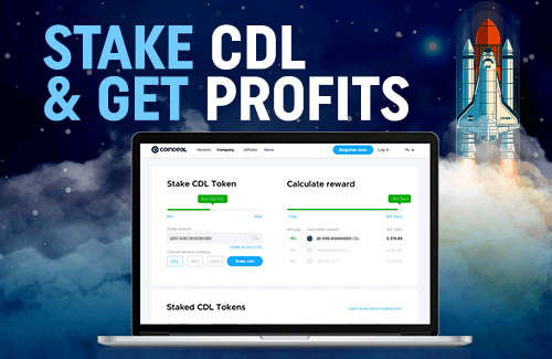 Stake CDL Tokens and get benefits!